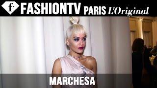 Rita Ora, Georgina Chapman at Marchesa   London Fashion Week Spring/Summer 2015   FashionTV