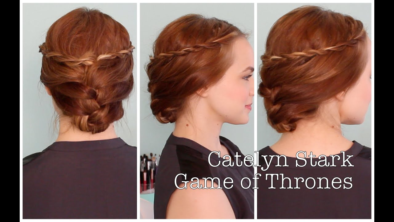 Quick And Easy Catelyn Stark Inspired Updo Youtube