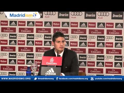 James Rodriguez, new Real Madrid Player, ENGLISH press conference