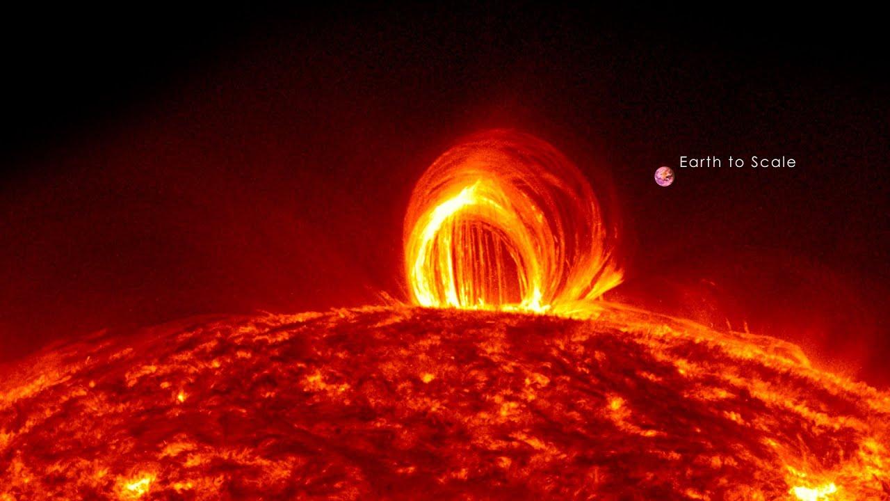 NASA Raining Loops on the Sun