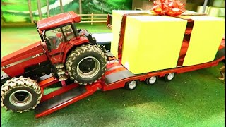 RC TRACTORS OPENING PRESENTS for the Kids on the Farm / Fun with Rc Toys