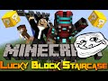GIANTS EVERYWHERE! - Minecraft Mini-game: Lucky Block Staircase!