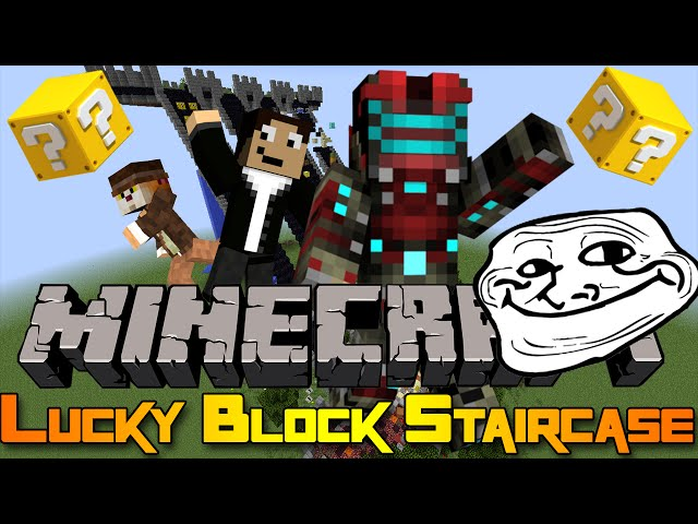 GIANTS EVERYWHERE! - Minecraft Mini-game: Lucky Block Staircase!