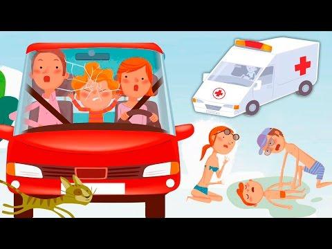 Мультики про машинки и безопасность для детей! Мультфильмы 2017 года Анимашка