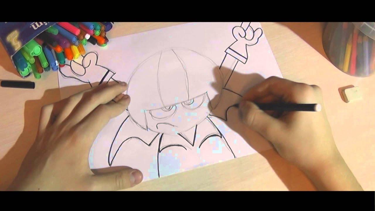 как рисовать кика бутовски карандашом: