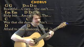 Beautiful Crazy (Luke Combs) Strum Guitar Cover Lesson with Chords/Lyrics - Capo 4th