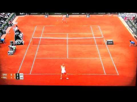 Sharapova vs. Halep: Final RG 2014 - best moments