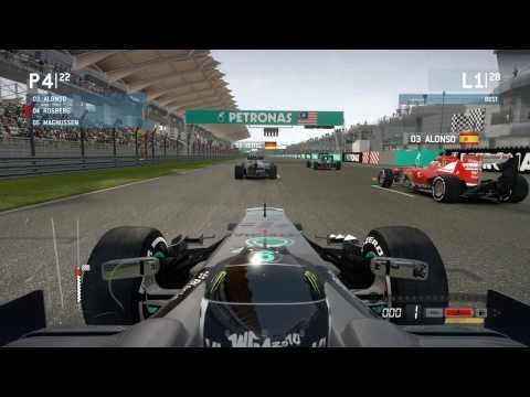 F1 2013 - Sepang 50% Race | Nico Rosberg | 2014 Mod