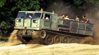 Russian artillery tractor ATS 59 - offroad ride