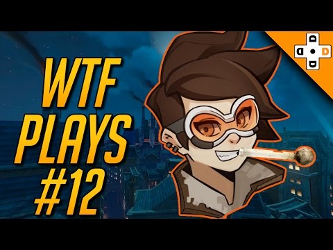Overwatch Funny WTF Plays #12 - TRACER ON CRACK! | Highlights Montage