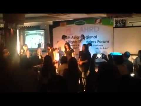 Imagine (Glee) -  6th Asian Regional Human Rights Defenders' Forum (12-3-14)