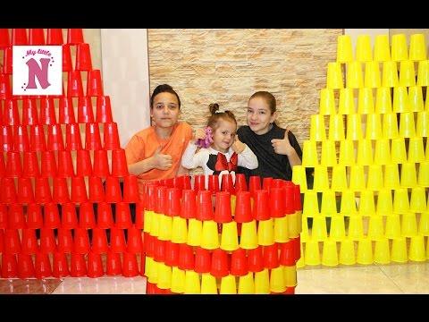 ЧЕЛЛЕНДЖ Построй пирамиду и башню из 200 стаканчиков ВЫЗОВ ПРИНЯТ Challenge Build a pyramid of cups
