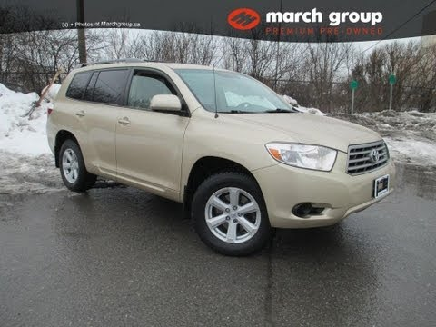 March Group Premium Pre-Owned 2008 Toyota Highlander AWD SR5 7 Passenger Ottawa Ontario Canada