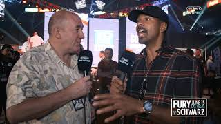 """""""He looked in his eyes and shouted abuse!"""" David Haye reacts to Tyson Fury face off with Tom Schwarz"""