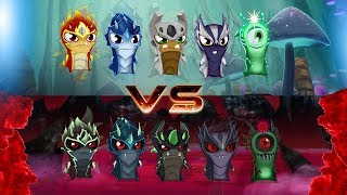 ELEMENTALS VS GHOUL ELEMENTALS - Slugterra/Bajoterra Slug It Out 2