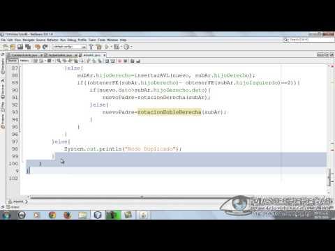 47 - Árboles Binarios de Búsqueda AVL, Implementación Parte 2 (EDDJava)