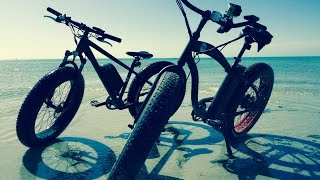 Electric Bikes vs the beach! FAT BIKES!!!!! E-biking like never before!