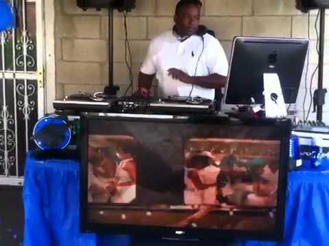 Video DJing pre party warmup