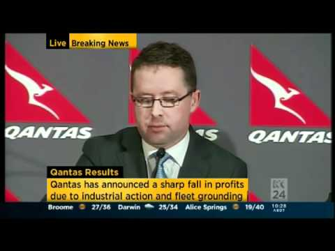 Alan Joyce Qantas -Profits Dive Jobs to go again! 16-02-12