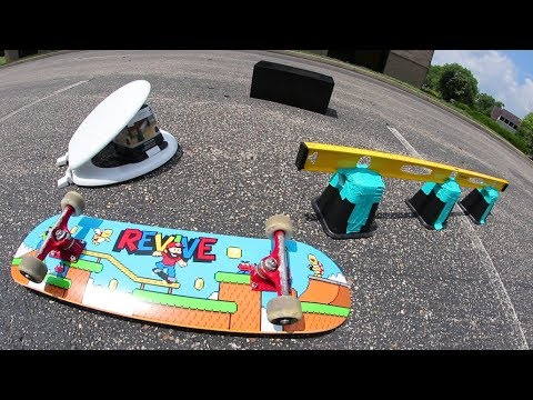 We Built A Skatepark From  Walmart!