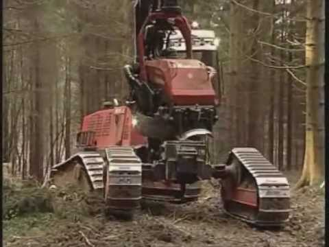 Harvester Komatsu 911.3 X3M Extreme to Steep Slope Application