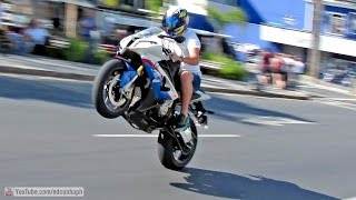 Best of Bikers 2014 - Superbikes Burnouts, Wheelies, Revvs and loud exhaust sounds!