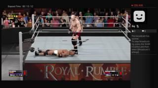 WWE CHAMPIONSHIP ROYAL RUMBLE NATHAN JONES VS GOLDBERG
