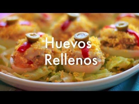 Huevos rellenos - Recetas de cocina fácil