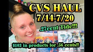 CVS HAUL 7/14/19-7/20/19 ~ $103 IN PRODUCTS FOR .56 CENTS!!!