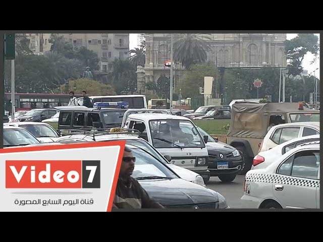 بالفيديو..قوات الأمن تمشط التحرير تحسبا لمظاهرات الإخوان