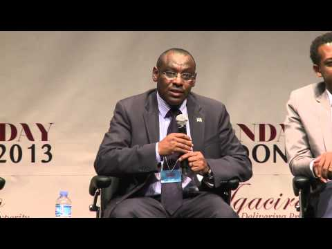 Minister Gatete Claver at Rwanda Day London 2013