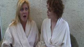 GINGER LYNN & JUSTINE JOLI ON TRIANGLE FILMS SET