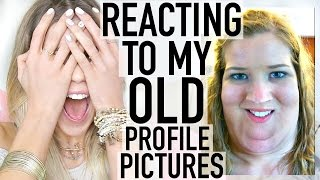 REACTING TO MY OLD PROFILE PICTURES