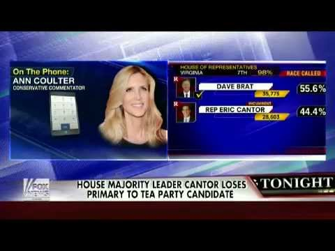 Ann Coulter On Eric Cantor's Loss To Tea Party Candidate