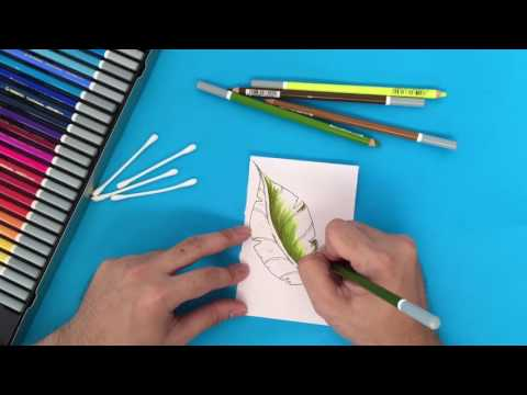 Blend colors easily using Stabilo CarbOthello chalk-pastel coloring pencils