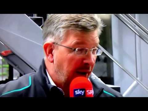 Lewis Hamilton attacks Ross Brawn mid interview Sky F1