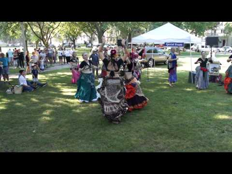 Tamarind Tribal and yours truly dancing at Farmers Market in Milwaukee, part 1