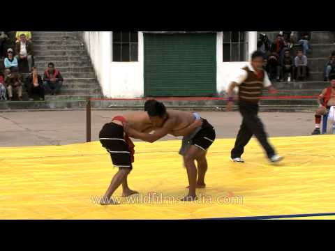 Old form of combat sport in India - Naga Wrestling