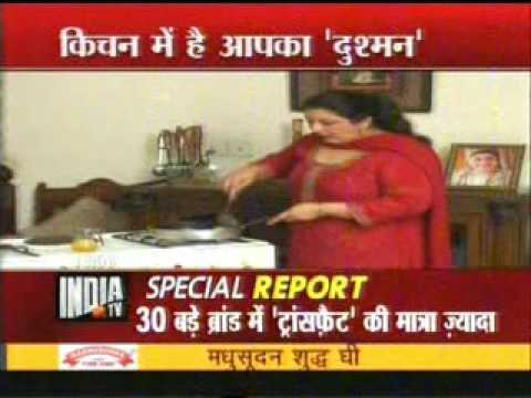 NEWS About Edible Oil Report by CSE on India TV