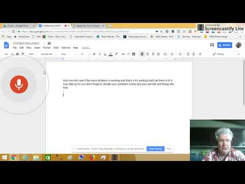 Video - How to Use Voice Dictation in Google Docs #InHomeComputerLessonsHonolulu