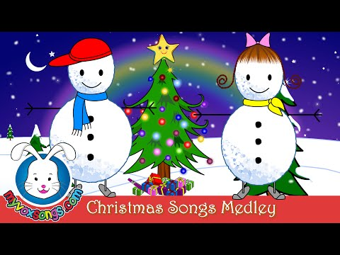 Christmas Songs For Kids With Lyrics | Xmas Medley video