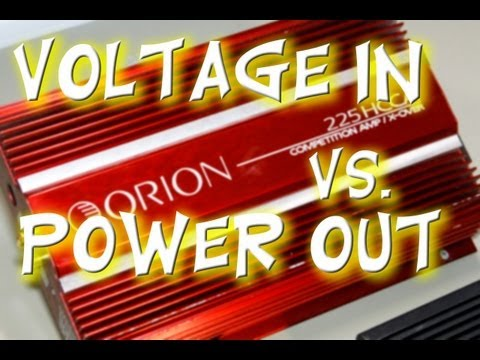 Orion 225 HCCA Competition Amp Power Output versus Voltage Input