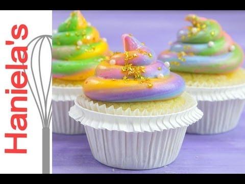 How To Make Unicorn Poop Cupcakes, Rainbow Frosting - YouTube Unicorn Poop Cupcakes