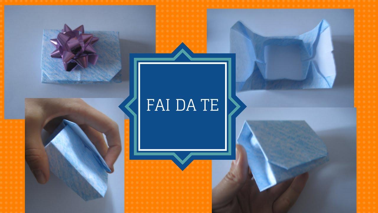 Confezione regalo richiudibile fai da te origami gift box for Fai da te accessori casa