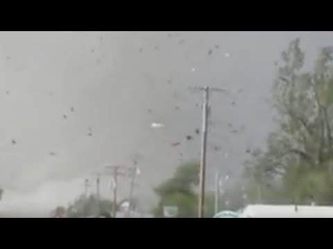 At least 17 people were killed when tornadoes tore through parts of Arkansas, Kansas and Oklahoma on April 27. This dramatic footage was captured in Quapaw, ...