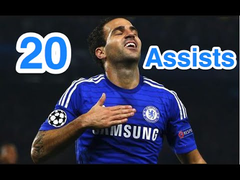 Cesc Fabregas - First 20 Assists For Chelsea FC - HD