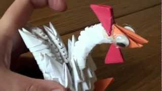 3d Origami Baby Rooster (not A Tutorial)