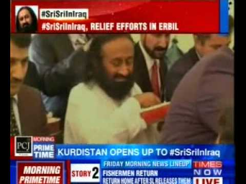 Sri Sri in Iraq - Times Now Coverage (English) | Art Of Living