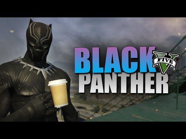 GTA 5 Mod - BLACK PANTHER !! - Momen Lucu GTA