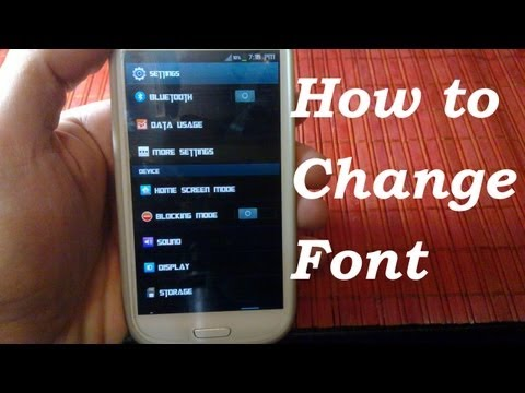 on how to change your font for more awesome fonts on the play store